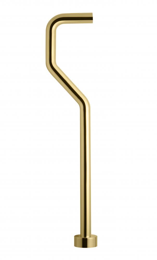Tapwell XA22 Golvrör för vattenlås Honey Gold