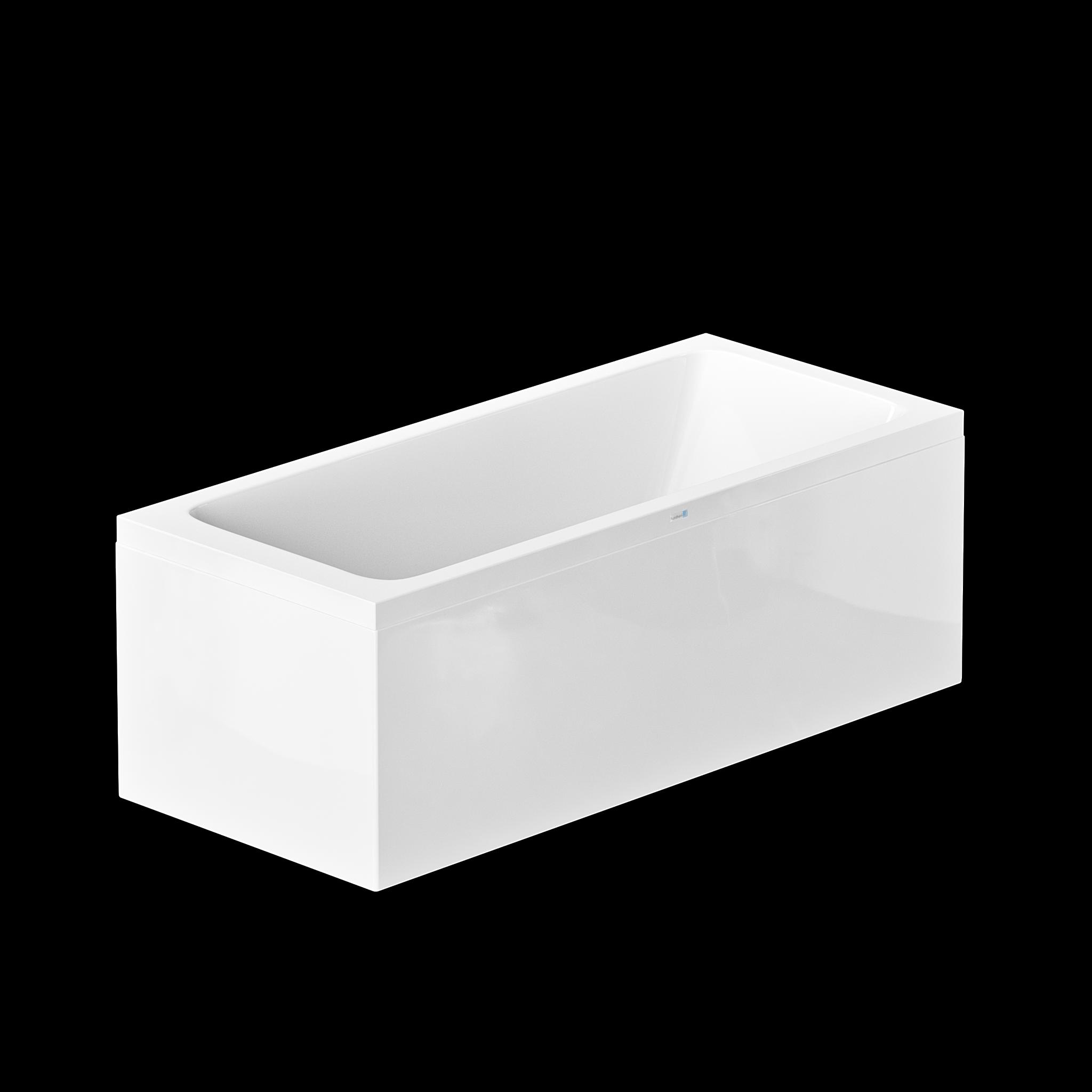 Nordhem badkar Saltholmen 1600x800x590 vit standard liksidig enkel