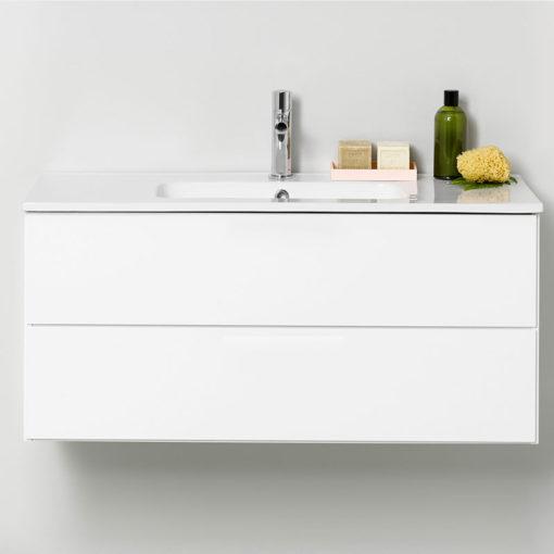 Westerbergs Afton Tvättställsskåp 1000 Vit, Push-Open
