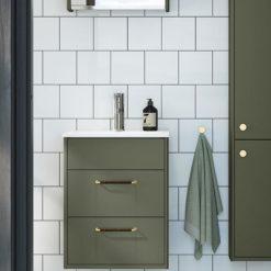 Gustavsberg Badrumsskåp med tvättställ Graphic Grön - 45 cm