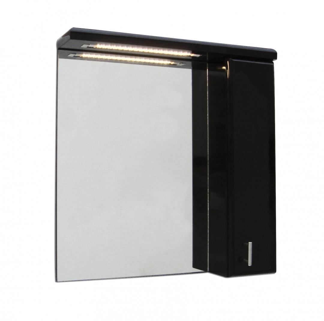 Demerx Skagerack 60 Spegelskåp m. LED belysning. Svart
