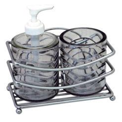 Demerx Soft hållare med glas & tvåldispenser