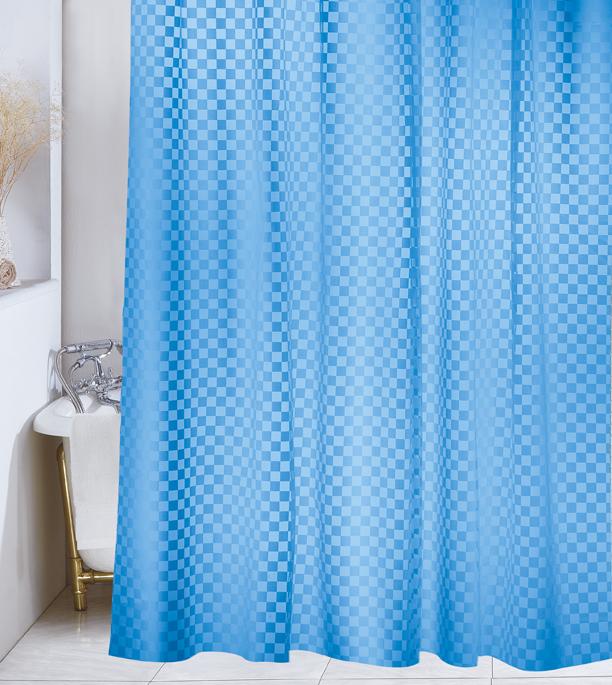 Demerx Duschdraperi Squares Blå