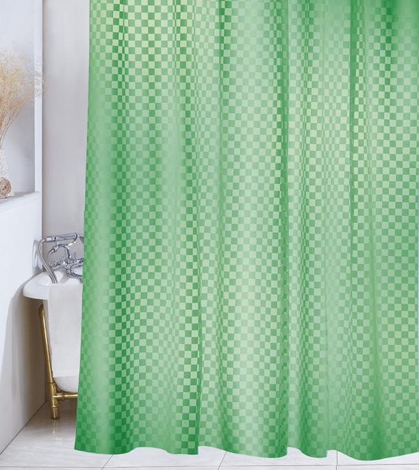 Demerx Duschdraperi Squares Grön
