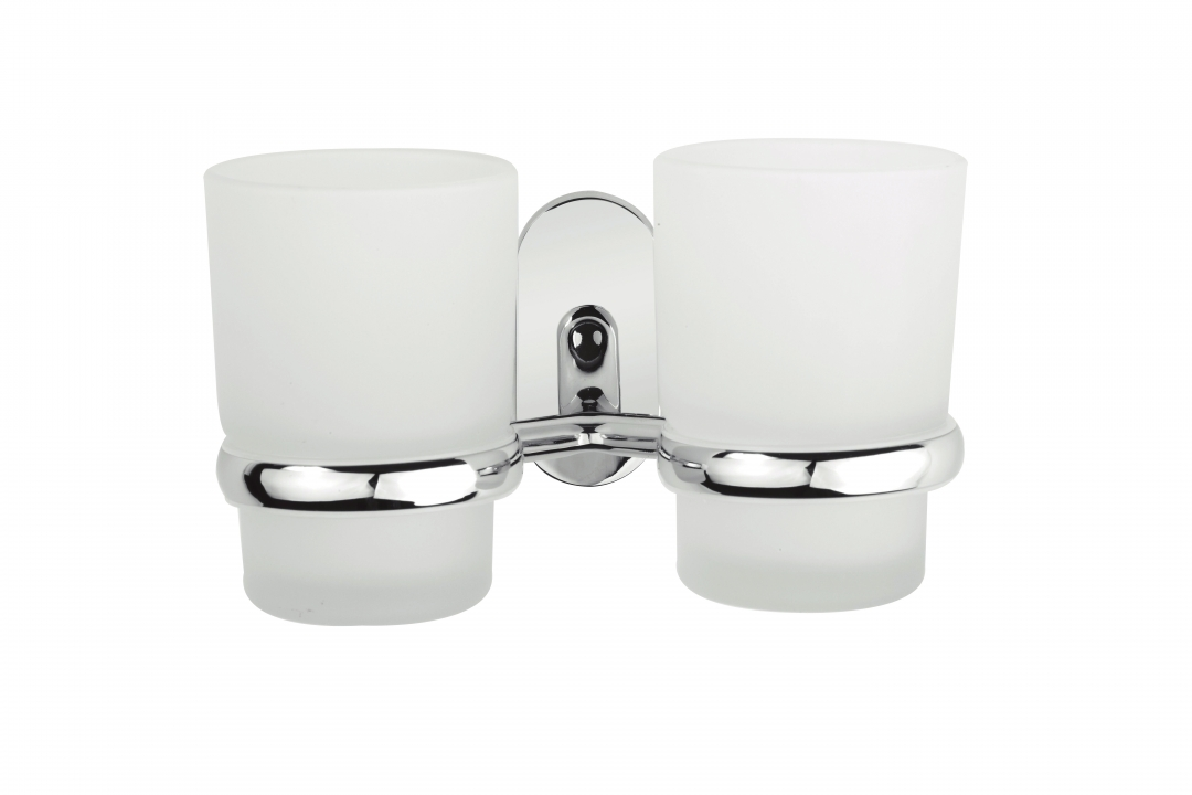 Demerx Dubbel glashållare med 2 glas