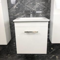 Qbad Kungsholmen tvättställskommod vit 50 cm