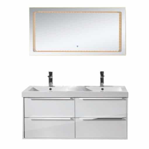 badrumsskap kommod vit 120 cm dubbla handfat