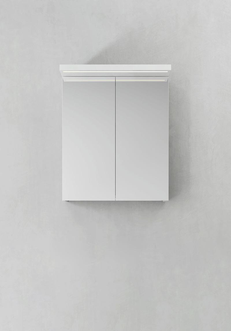 Hafa Spegelskåp Store Ledprofil Vit 600