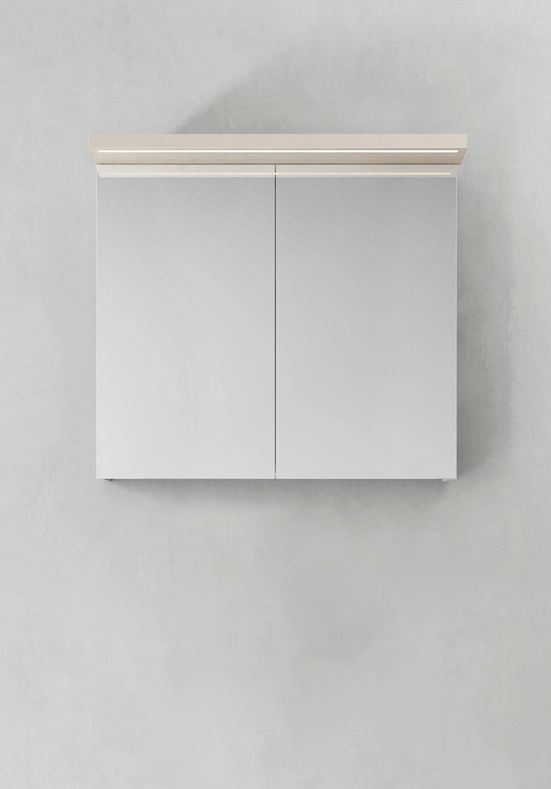 Hafa Spegelskåp Store Ledprofil Askmönster 800