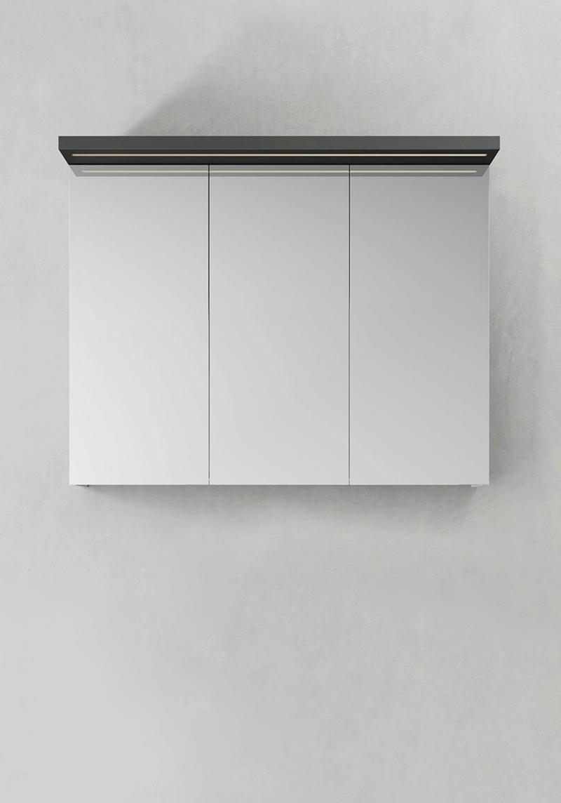 Hafa Spegelskåp Store Ledprofil Antracit 900