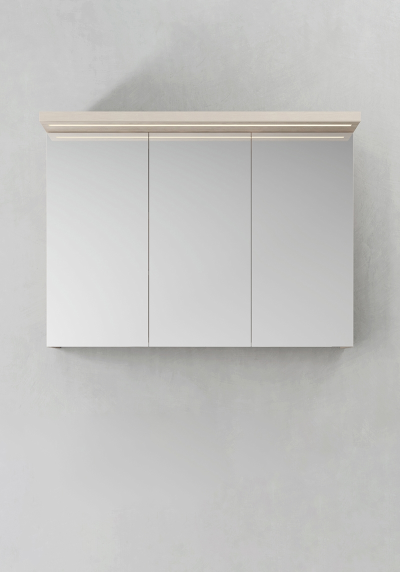 Hafa Spegelskåp Store Ledprofil Askmönster 1000