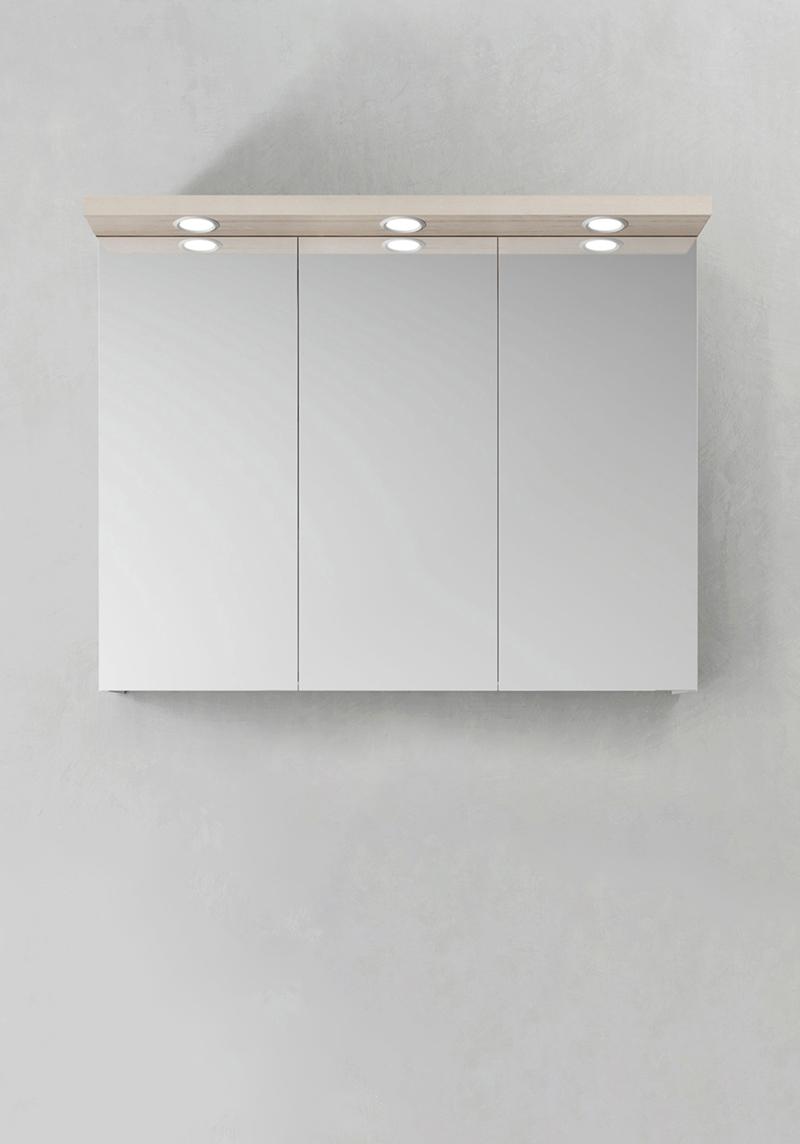 Hafa Spegelskåp Store Ledspots Askmönster 900