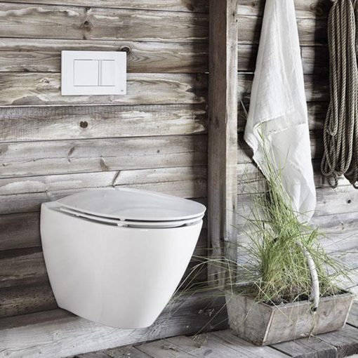 Vägghängs toalettstol Ifö Spira Art