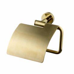 Tapwell TA236 Toalettpappershållare med lock Mässing
