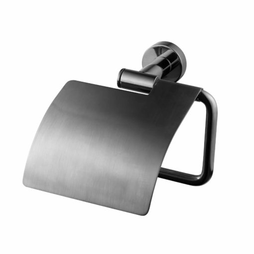 Tapwell TA236 Toalettpappershållare med lock Black Chrome