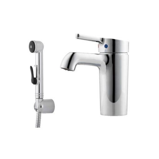 Mora One Tvättställsblandare med Sidohanddusch Turbo/Plusflöde