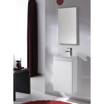 Alterna Bella Tvättställskommod med spegel Vit 40 cm
