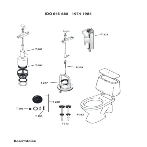 Reservdelar toalett