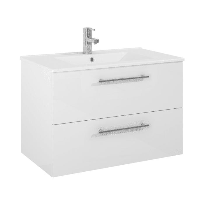 Tvättställskåp QBad Visby 80 cm vit