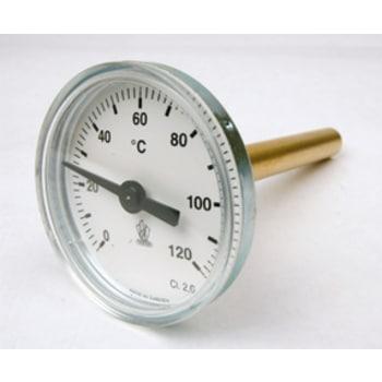 Instickstermometer för ackumulatortank med dykrör 0+120 100mm   Rörfokus