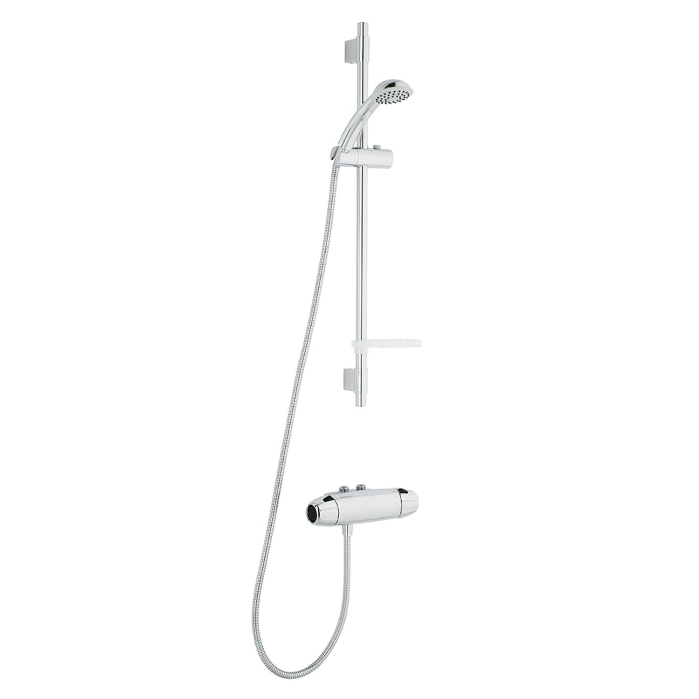 FM Mattsson 9000E Duschpaket 40 c/c Blandare + duschset Inlopp upp