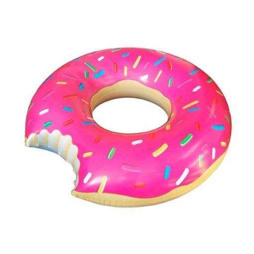 Uppblåsbar Donut Rosa Stor Badring