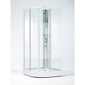 Duschkabin Ifö SKR VS 90x90 Svängd Klarglas Med Duschblandare