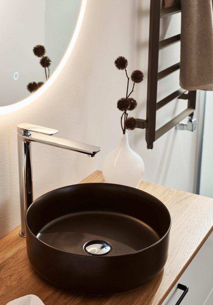 Handdukstork Hafa Edge 50x120 cm Kaffe