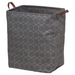 Tvättkorg Demerx Geometric Sealskin Grå