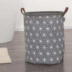 Tvättkorg Demerx Triangles Sealskin 60x90 cm Grå