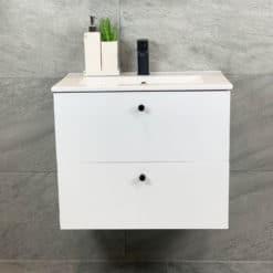 Tvättställsskåp Vit Matt 60 cm Qbad Solsidan