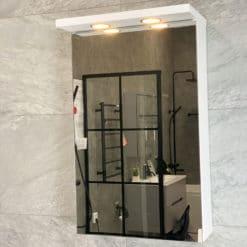 spegelskåp vit 45 cm qbad