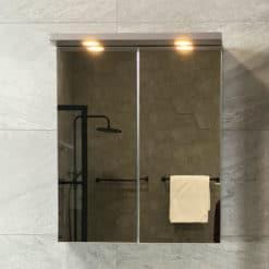 Spegelskåp Grå Matt 60 cm Qbad Solsidan