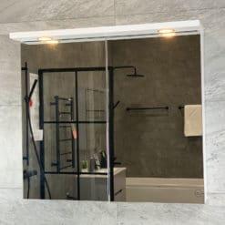 Spegelskåp Vit Matt 80 cm Qbad Solsidan