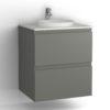 Tvättställsskåp Vedum Zone 60 cm Rund 2 lådor