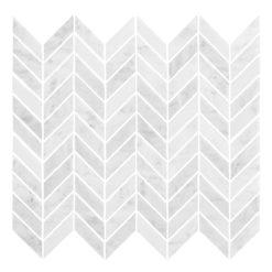 Bricmate Marmormosaik U Chevron Carrara Polished 21x50