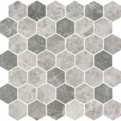 Bricmate Marmormosaik U Hexagon Medium Grey Marble Honed 50x50