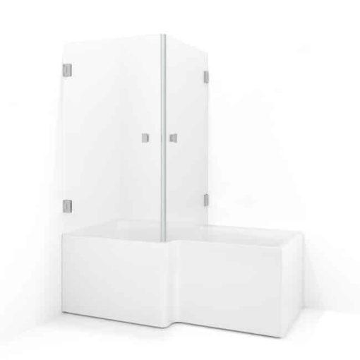 Macro badkarsvägg frostat glas