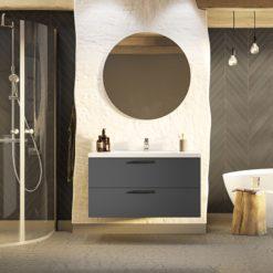 Tvättställsskåp Westerbergs Jord Antracit Matt 100 cm