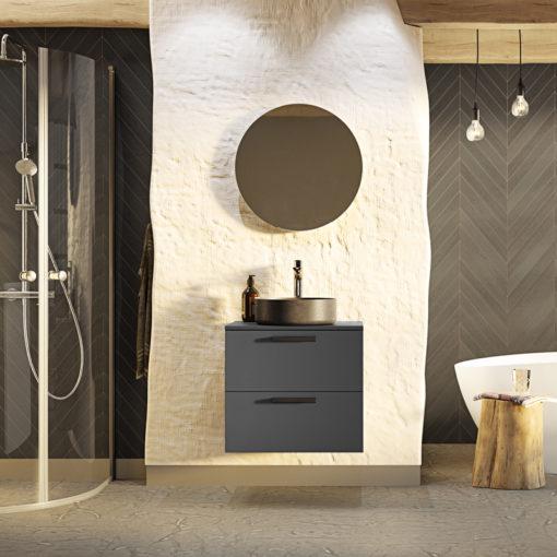 Tvättställsskåp Westerbergs Jord Antracit Matt 60 cm
