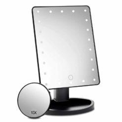 sminkspegel med belysning och förstoring